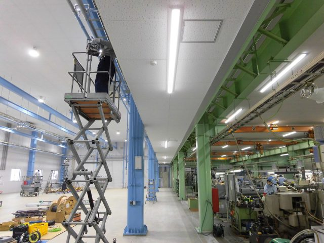 【N・S・S株式会社】様 新築工場にLED照明導入